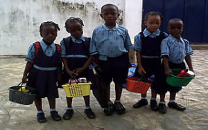 Children in Christ Orphanage Home Ondo getting ready for School.