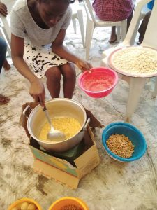 making of chin chin, buns at Christ Orphanage Home 2018 Empowerment